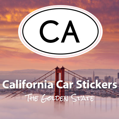 CA State of California oval car sticker