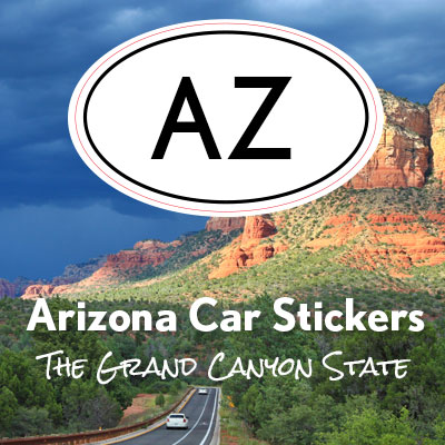 AZ State of Arizona oval car sticker