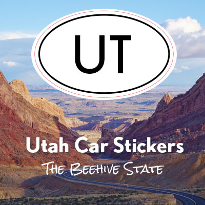 UT State of Utah oval car sticker