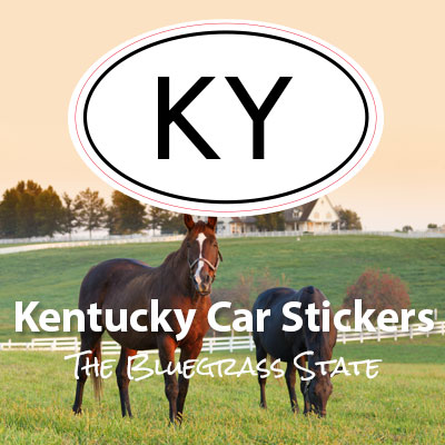 KY State of Kansas oval car sticker