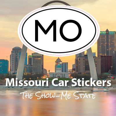 MO State of Missouri oval car sticker