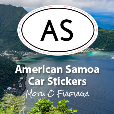 AS Territory of American Samoa oval car sticker