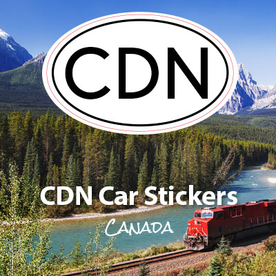 CDN Canda oval car sticker