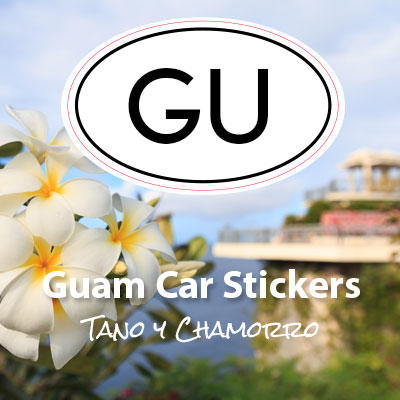 GU Territory of Guam oval car sticker