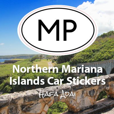 MP Commonwealth of the Northern Mariana Islands oval car sticker