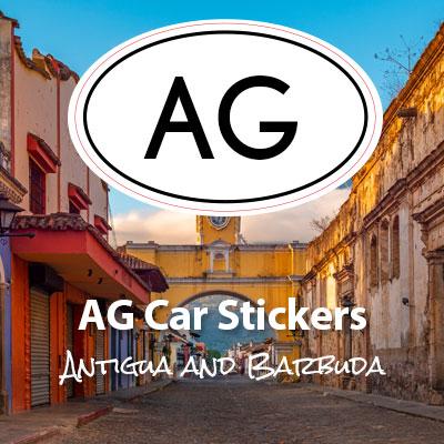 USA United States of America oval car sticker